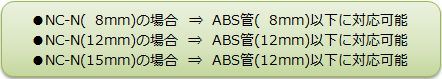 ABS管対応サイズ